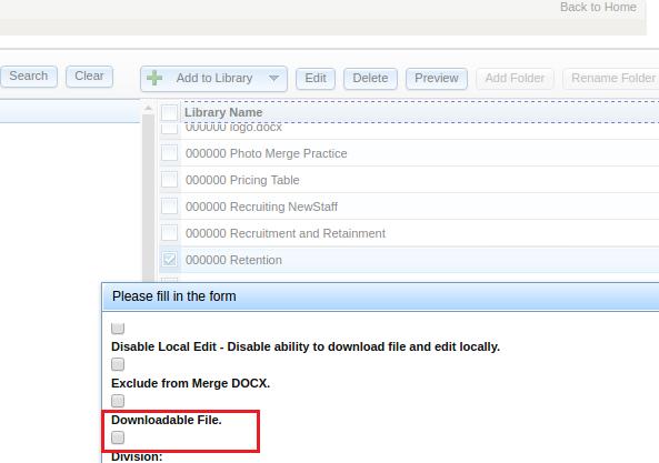 Default File as Downloadable in Settings