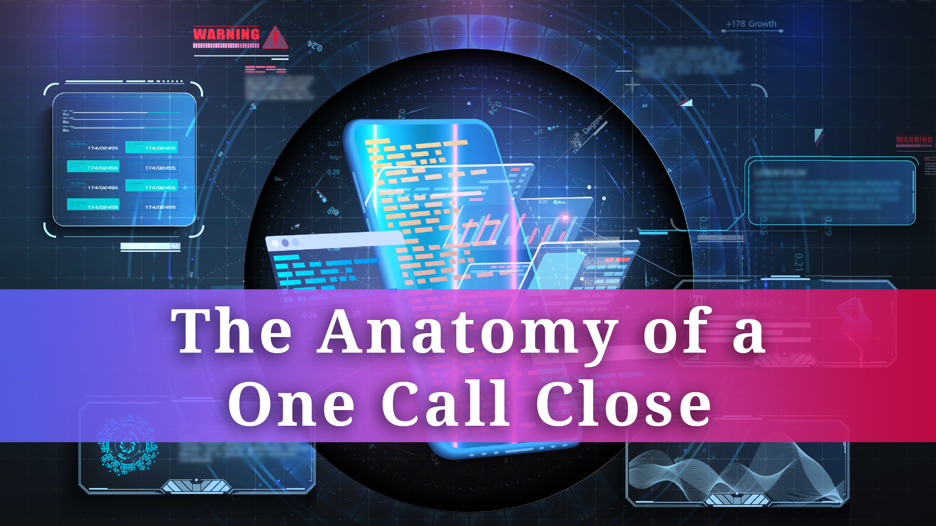 The Anatomy of a One Call Close